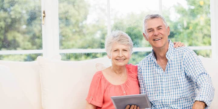 Seniors Using a Tablet for Financial Matters